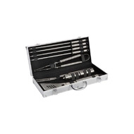 COOK'IN GARDEN Mallette+ 9 ustensiles barbecue gris